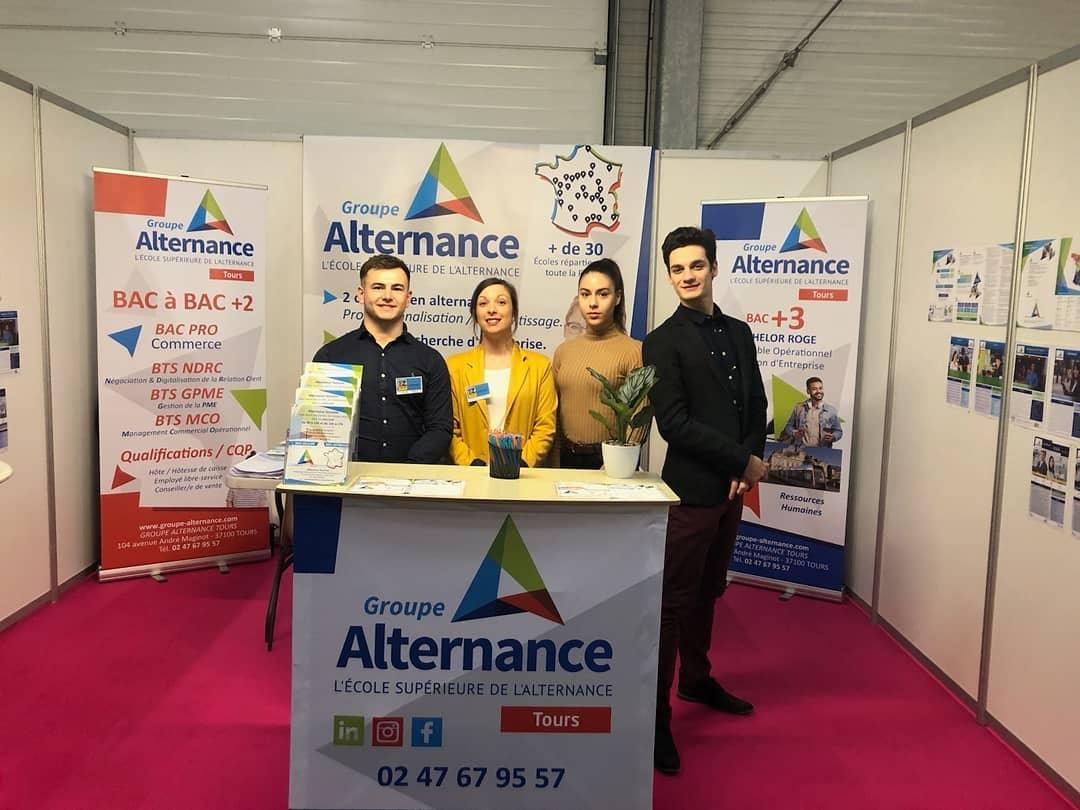 Groupe Alternance Tours au Forum de l'Orientation alternance BTS